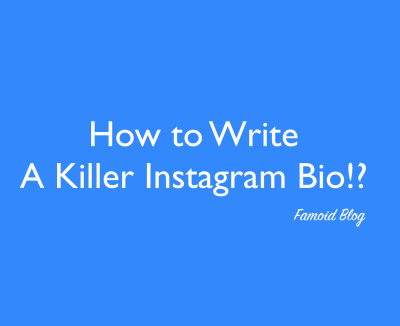 Write a Killer Instagram Bio now!