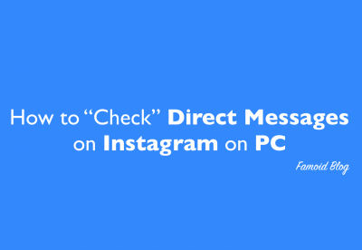 How to check DM messages of Instagram on Computer?