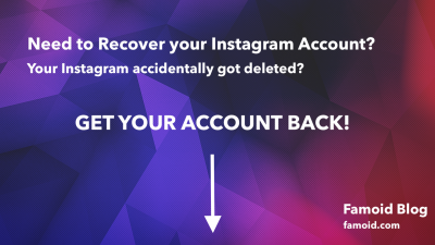 How to Recover an Instagram Account? - Famoid