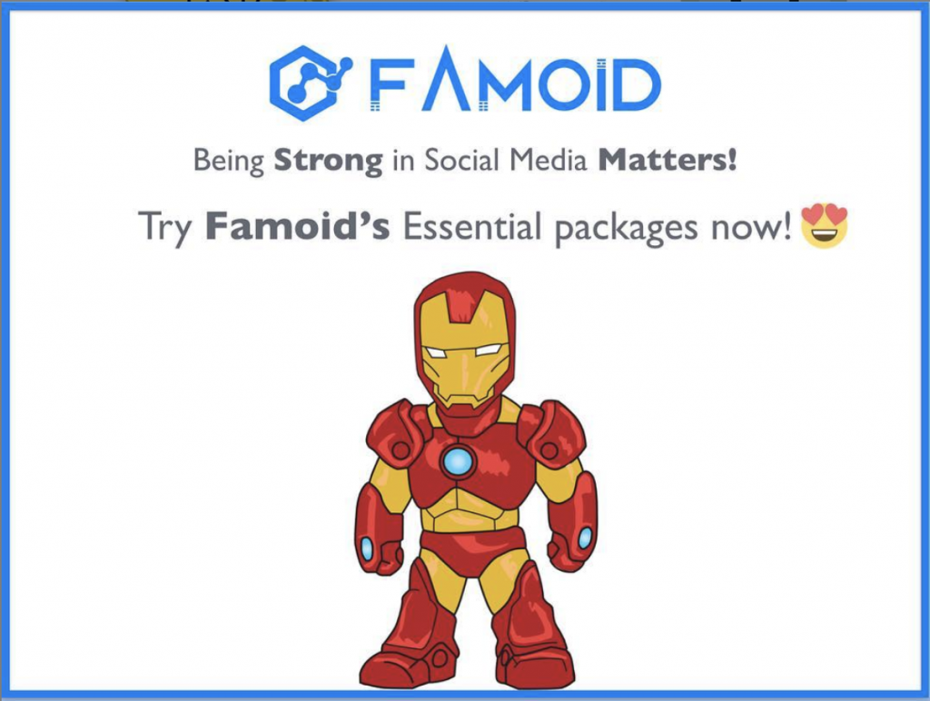 Image result for visit Famoid.com to see Instagram likes packages