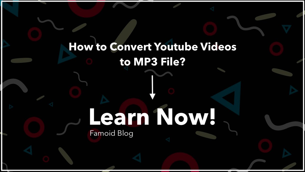 How to Easily Convert Youtube Videos to MP3? - [2019!]