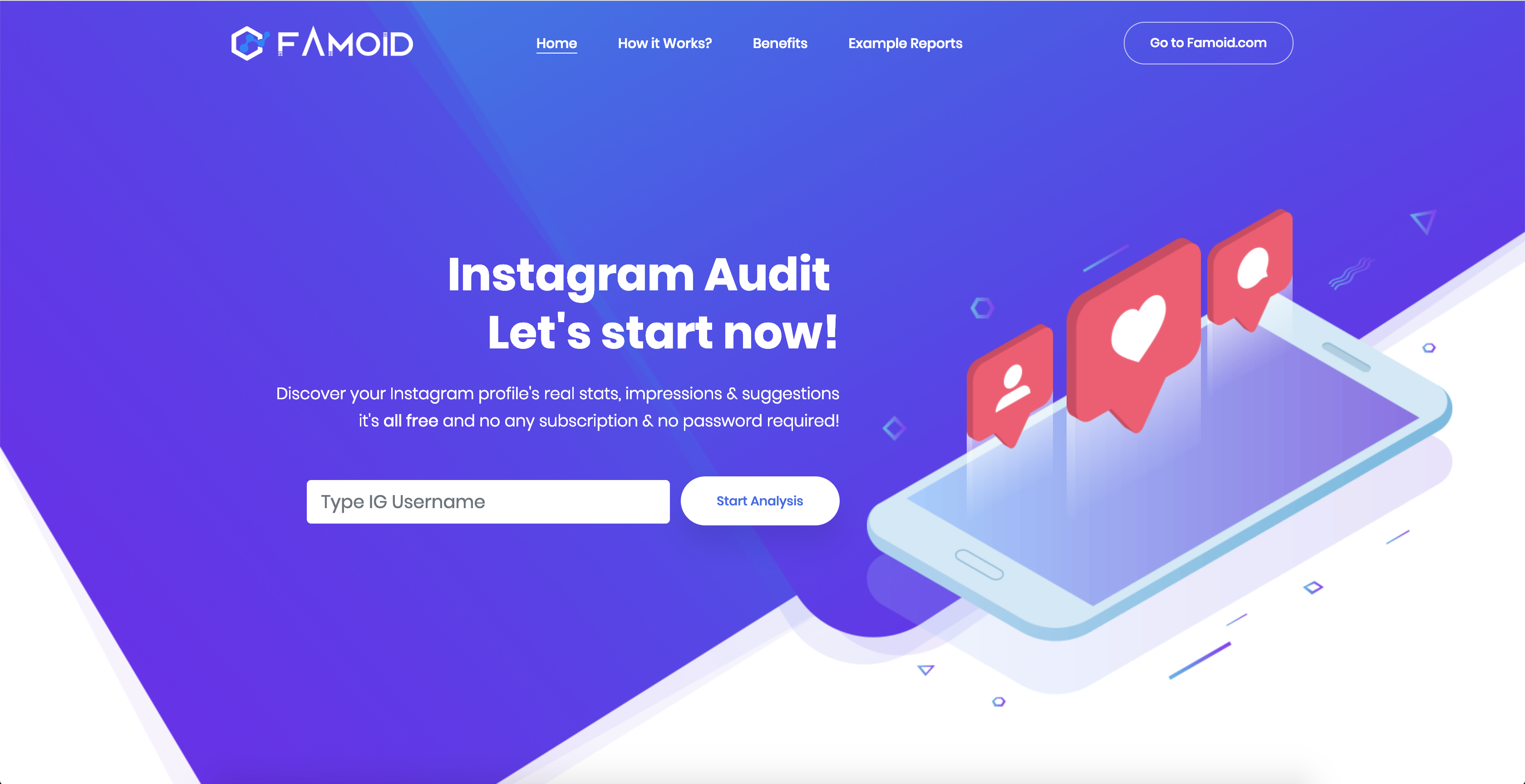 Why you Should use Instagram Profile Audit Tool? - [Famoid