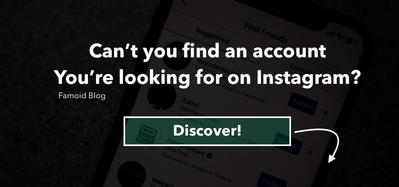 Solution: I can't Find an Account I'm Looking for on Instagram - Famoid