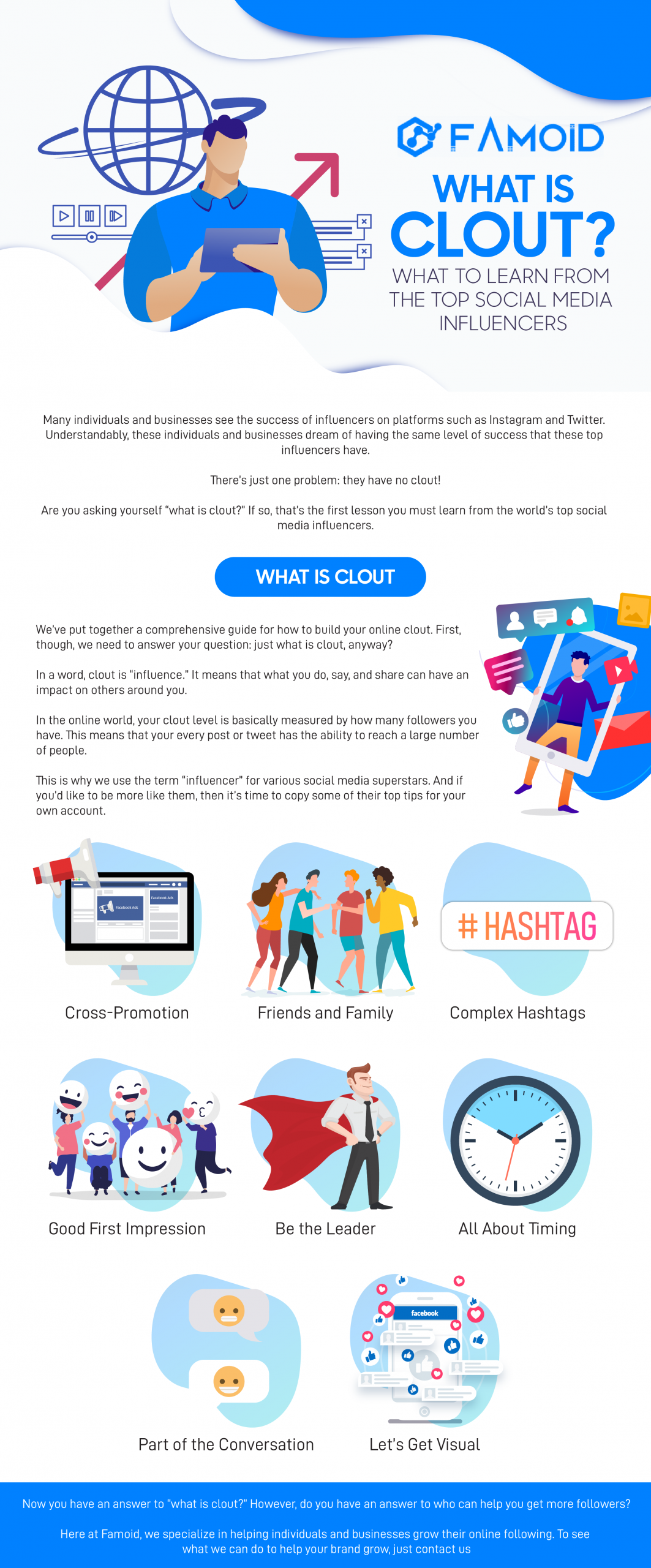 What is Clout? - Famoid's Infograph