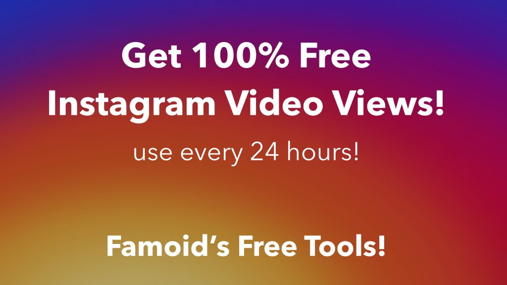 Free Instagram Video Views