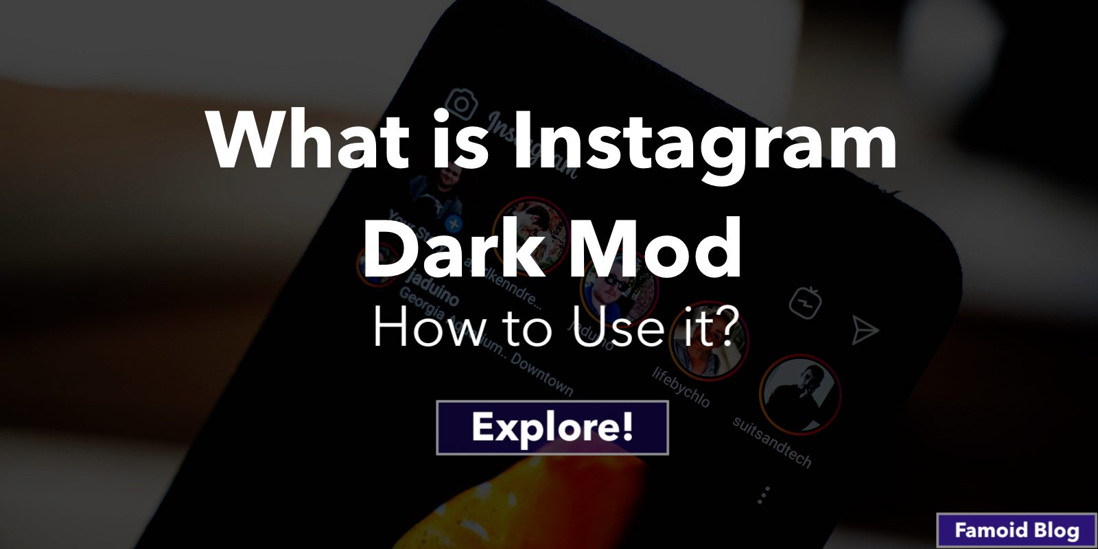 What is Instagram Dark Mode?