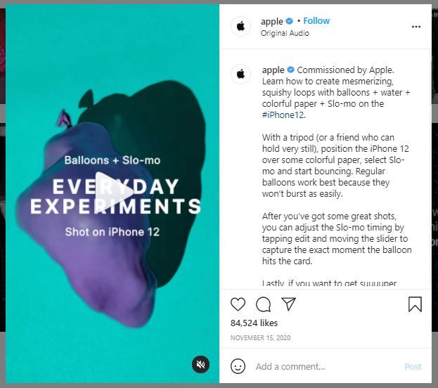 Apple instagram post