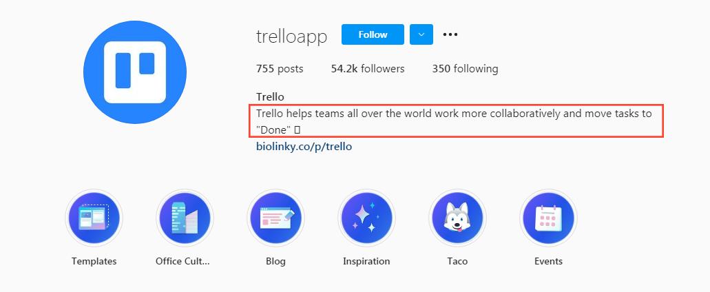 Trello Instagram Profile