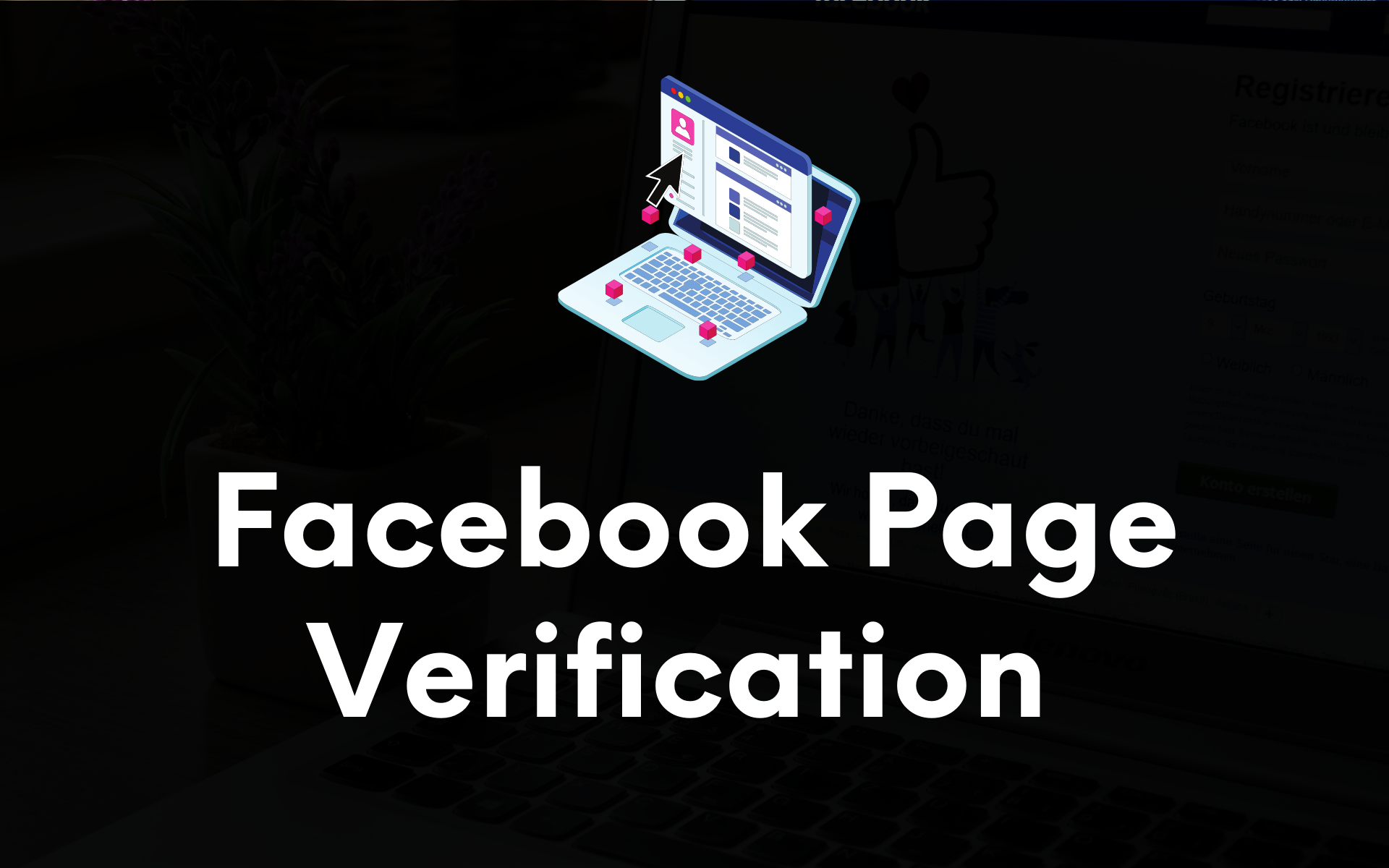 How to verify a facebook page