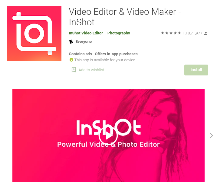 InShot instagram story creator