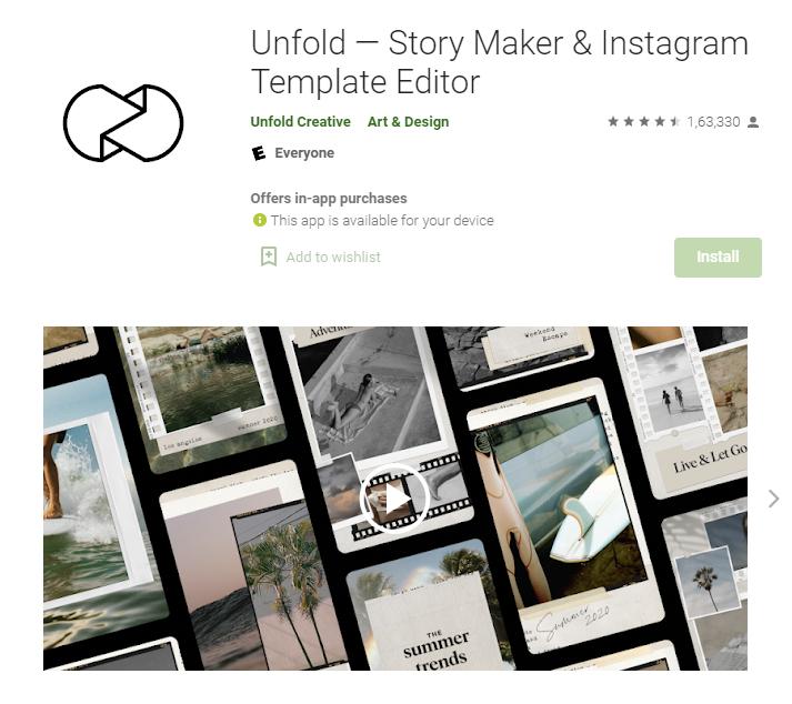 Unfold - instagram story maker