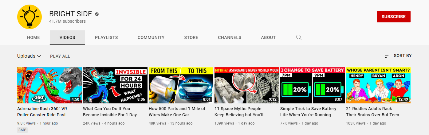 YouTube verification badge example