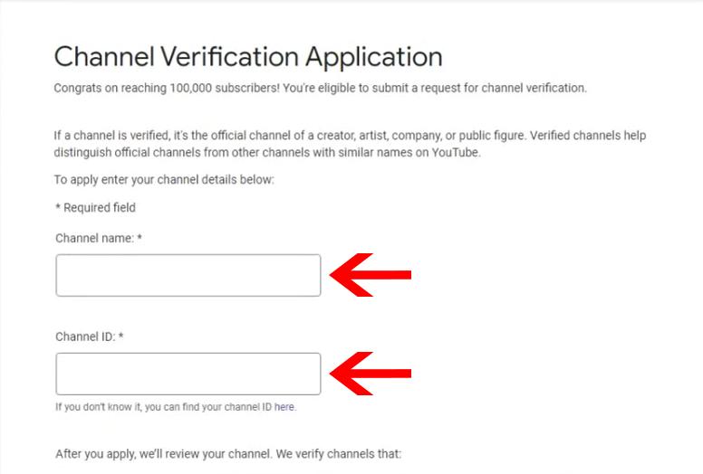 YouTube verification step 2