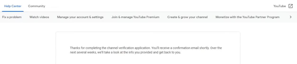 YouTube verification step 3